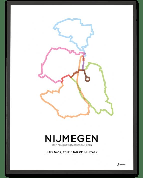 2019 Vierdaagse nijmegen 160km military route print