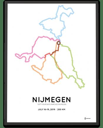 2019 Nijmeegse Vierdaagse 200km route poster