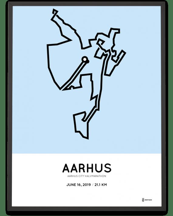 2019 Aarhus city half marathon rutenposter