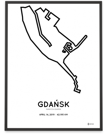 2019 Gdansk marathon course poster