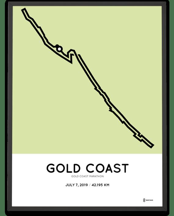 2019 gold coast marathon routemap poster