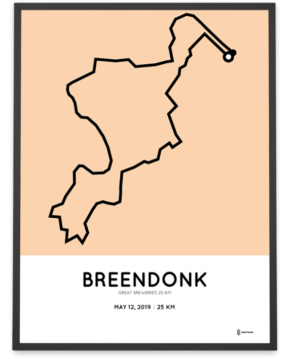 2019 Great Breweries 25km course poster