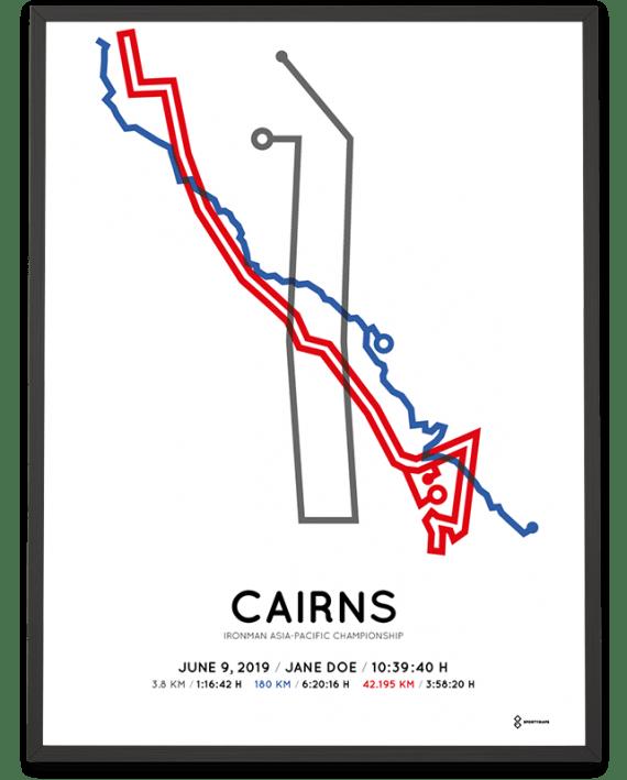 2019 Ironman Cairns minimalist course print