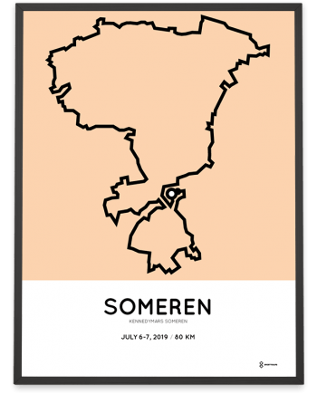 2019 Kennedymars Someren verharde route poster