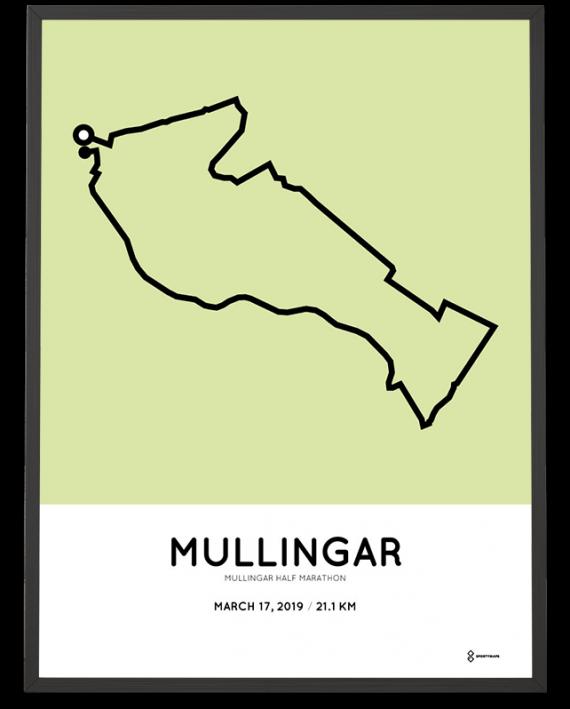 2019 Mullingar half marathon course poster