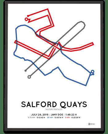 2019 Salford triathlon sprint routemap poster
