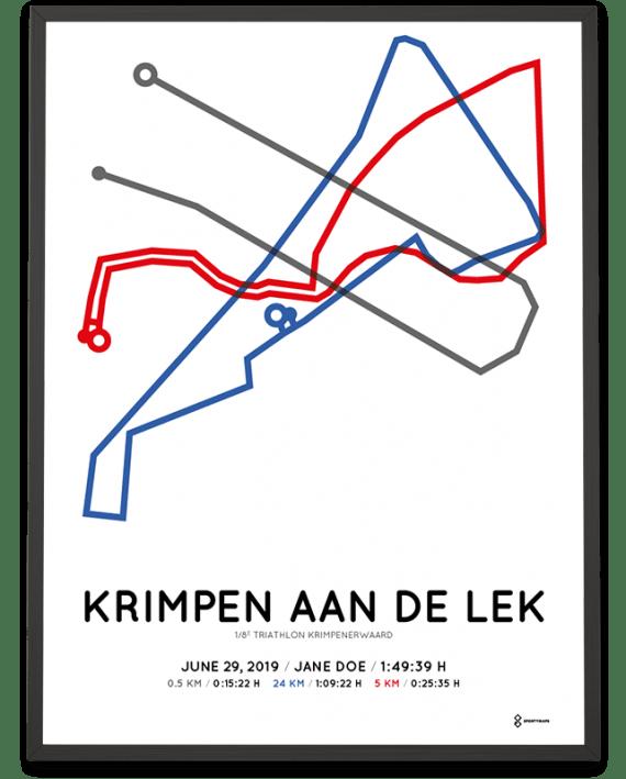 2019 Triathlon Krimpenerwaard parcours poster