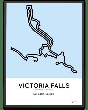 2019 Victoria Falls marathonermap print