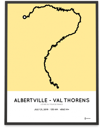 2019 etape du tour de france routemap print