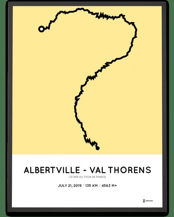 2019 etape du tour de france routemap print