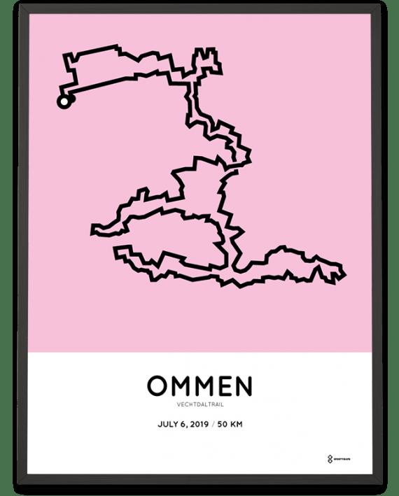 2019 vechtdaltrail 50km sportymaps route poster