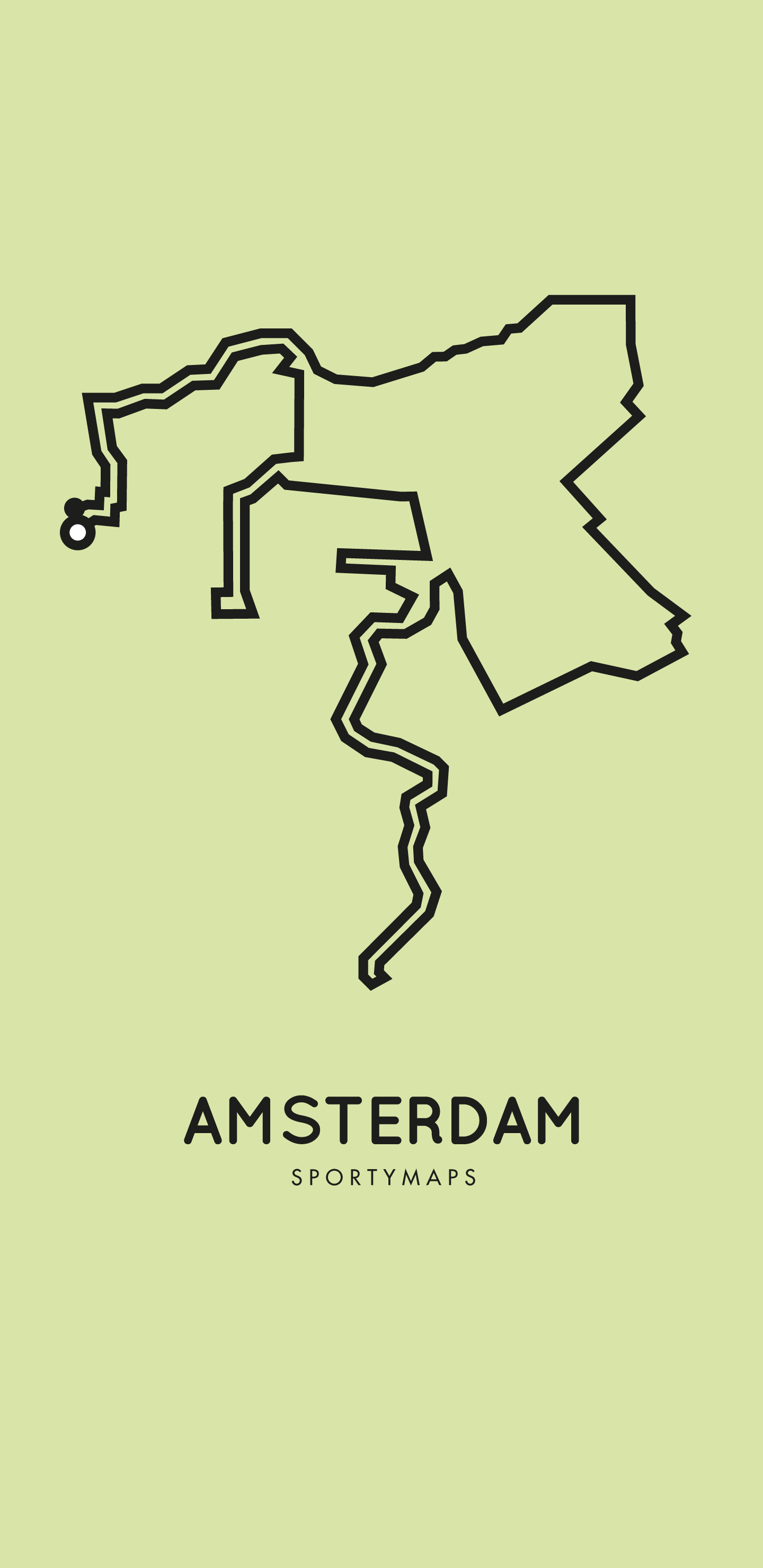 Sportymaps-Amsterdam-marathon-green
