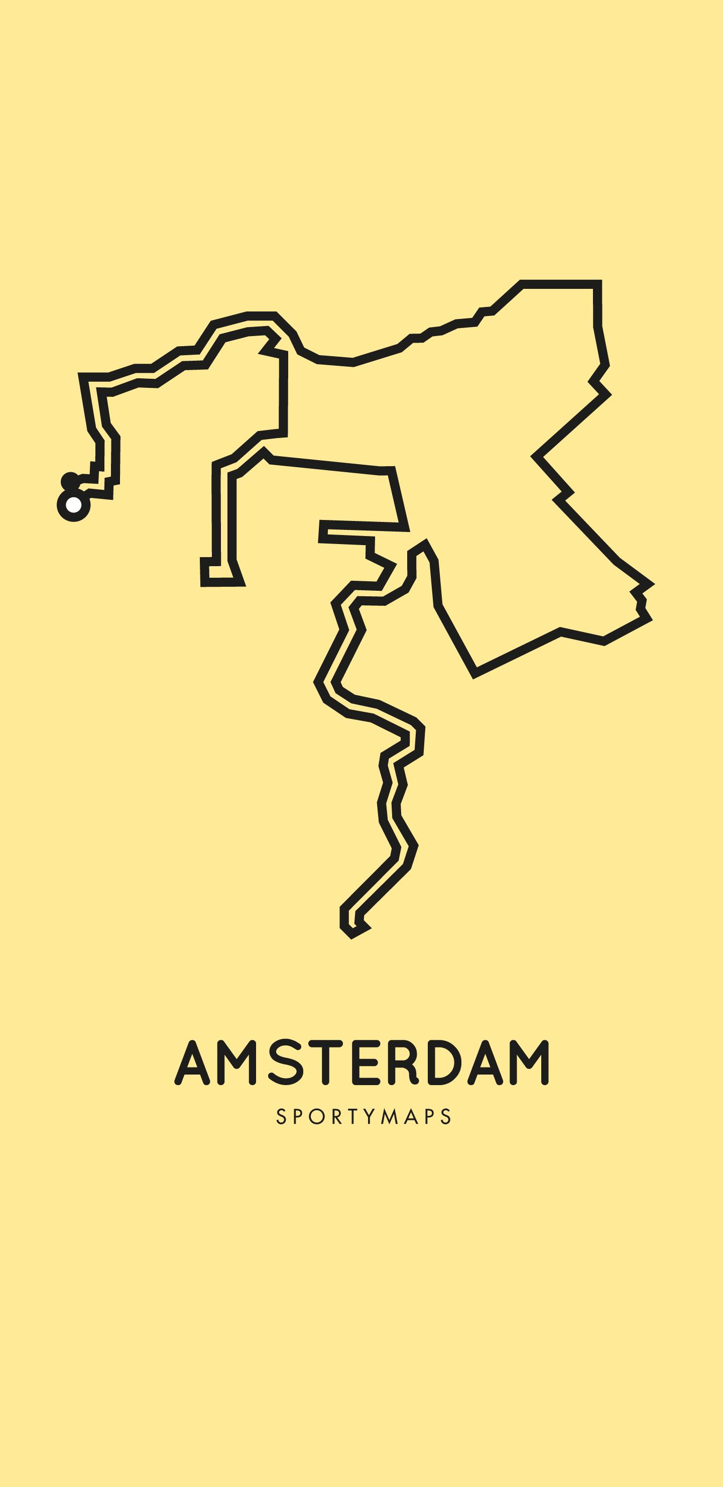 Sportymaps-Amsterdam-marathon-yellow