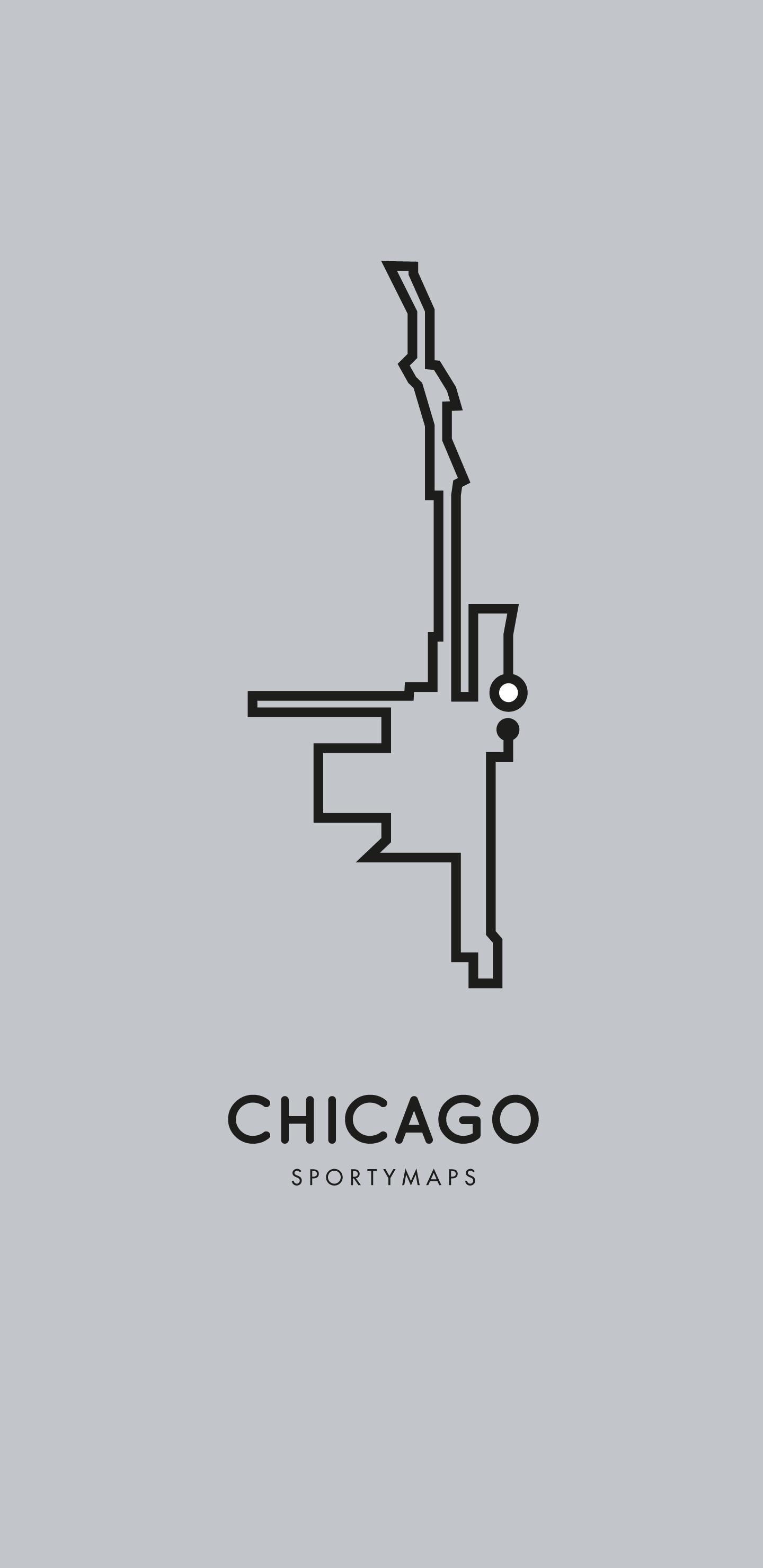 Sportymaps-Chicago-marathon-gray