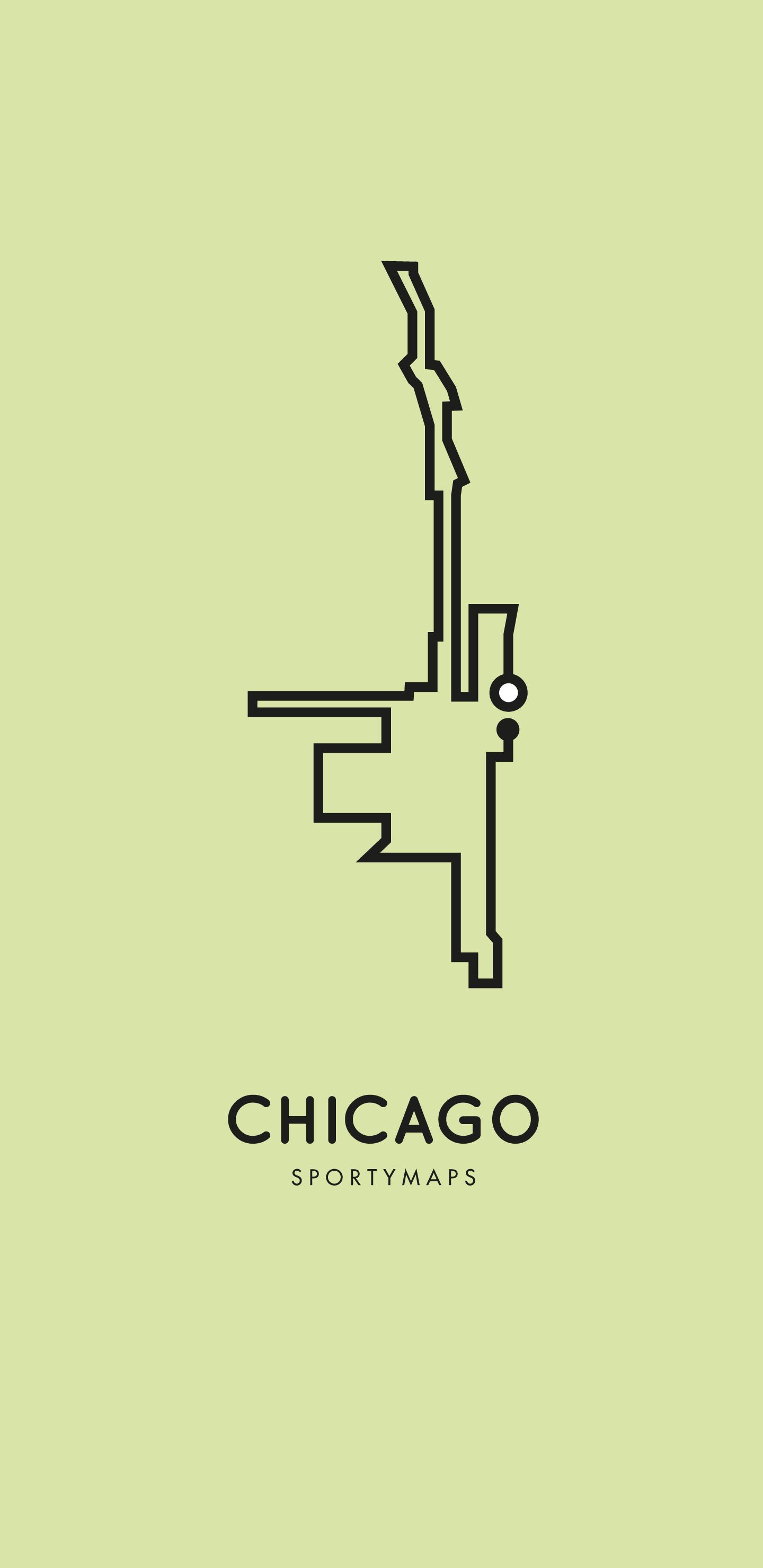 Sportymaps-Chicago-marathon-green