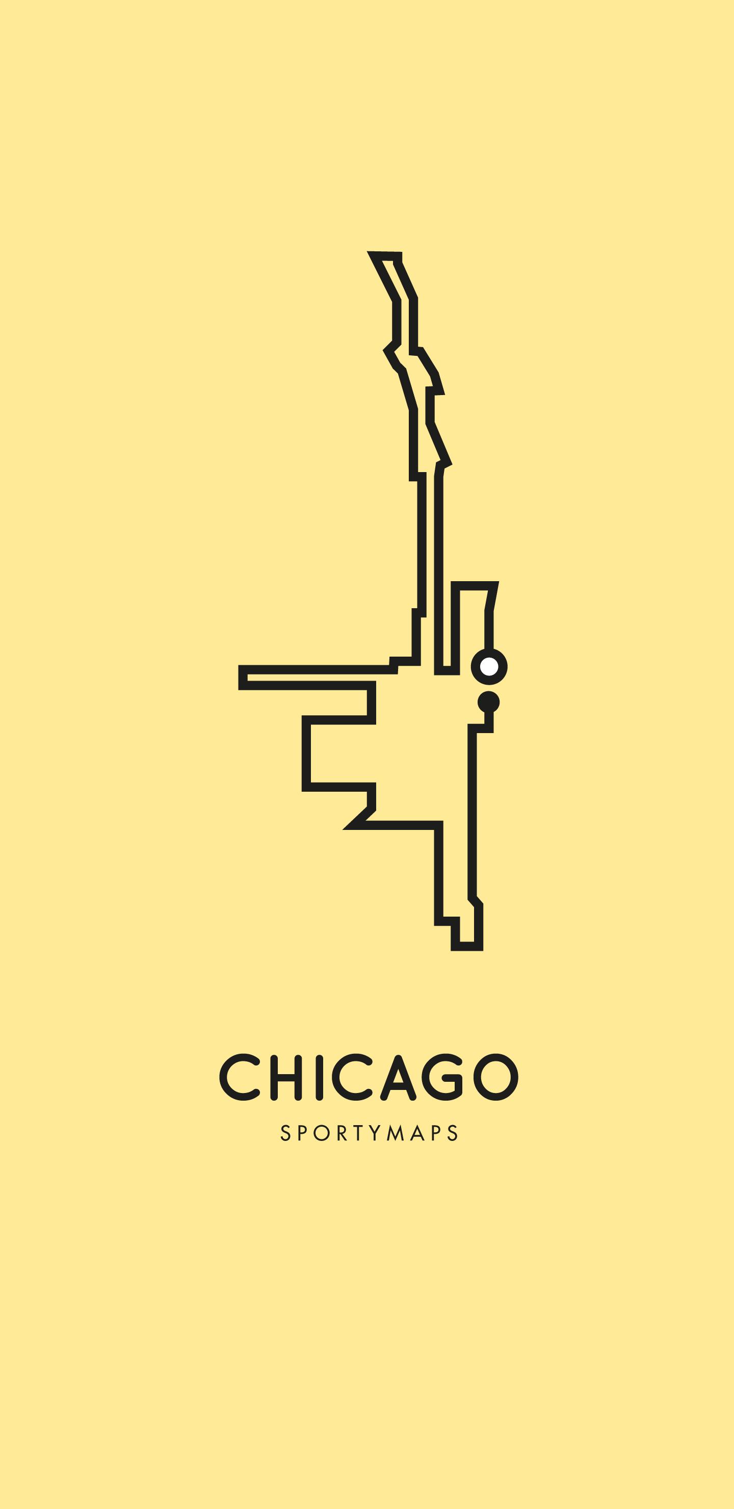 Sportymaps-Chicago-marathon-yellow