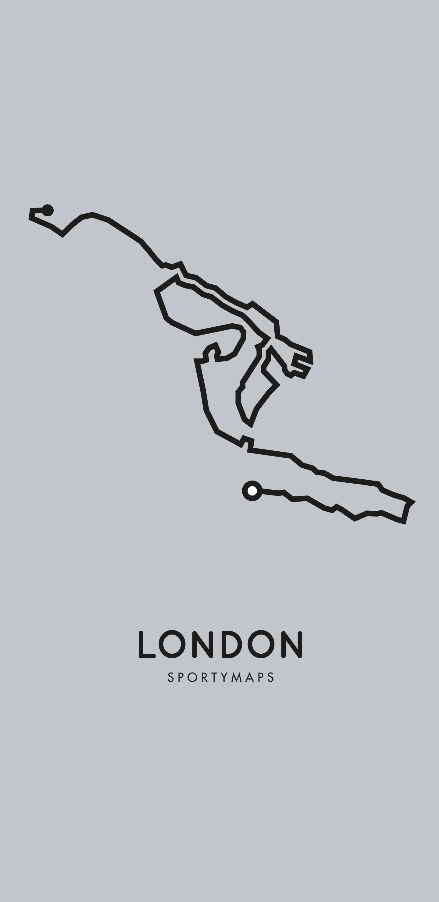 Sportymaps-London-marathon-gray