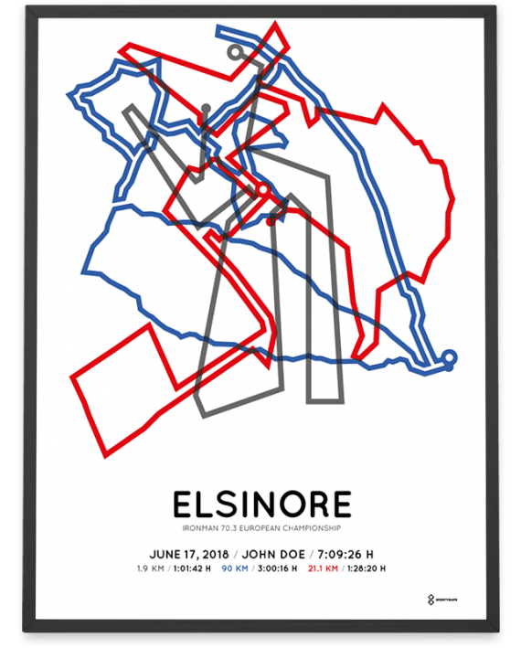 2018 Ironman 70.3 Elsinore route print