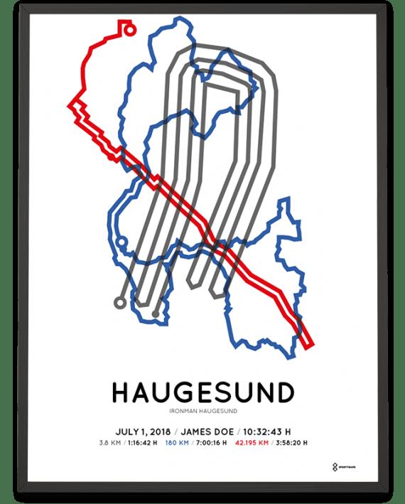 2018 Ironman Haugesund course poster