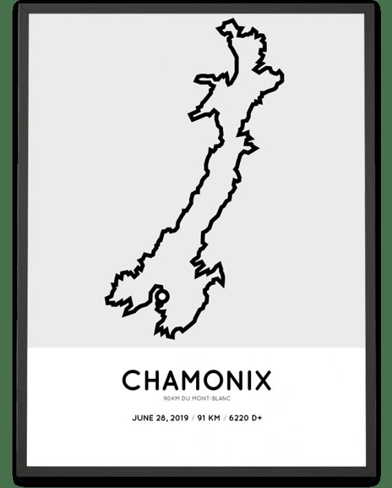 2019 90km du mont blanc parcours poster