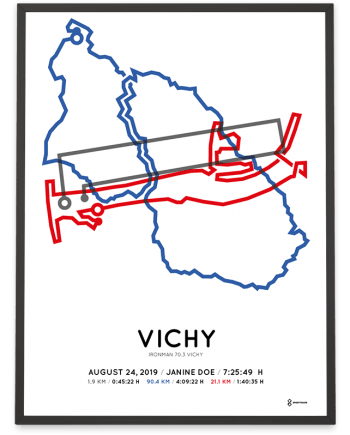 2019 Ironman 70.3 Vichy parcours poster