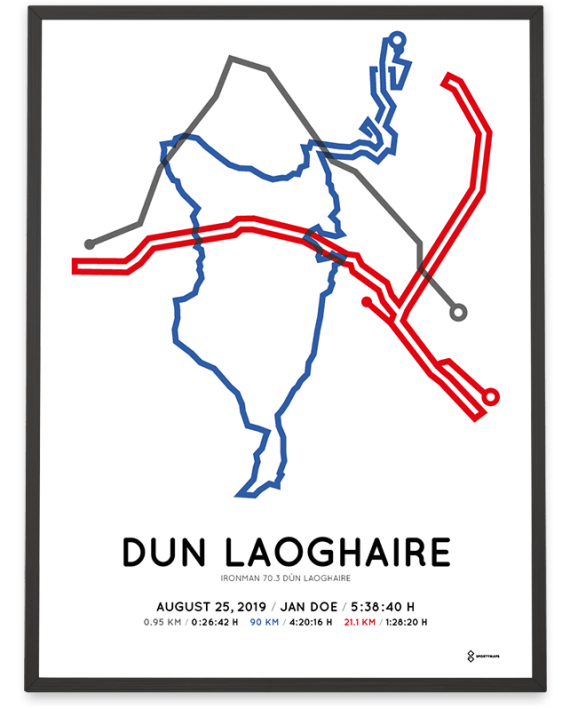 2019 Ironman 703 dun laoghaire course poster