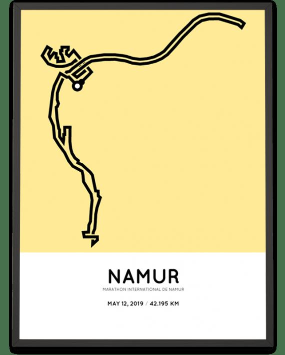2019 Namur marathon sportymaps parcours poster