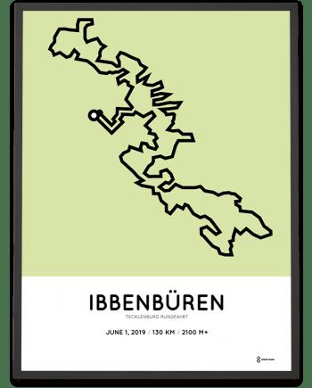 2019 Tecklenburg Rundfahrt 130km course poster