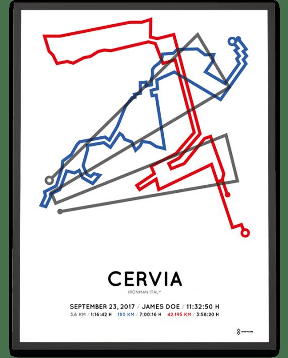 2017 Ironman Italy Emilia-Romagna course poster