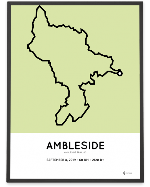 2019 Ambleside trail 60 course poster