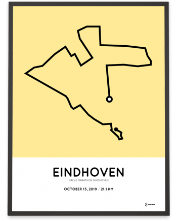 2019 Eindhoven halve marathon parcours poster