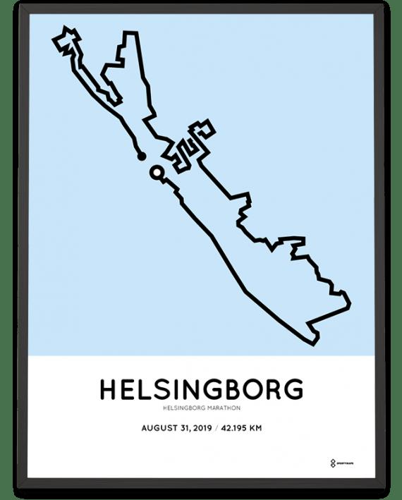 2019 Helsingborg marathon marathonermap
