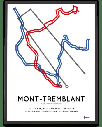 2019 Ironman Mont-Tremblant coursemap print