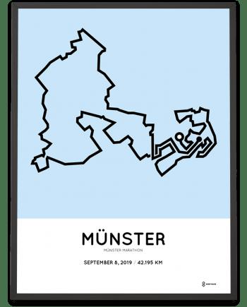 2019 Münster marathon course poster