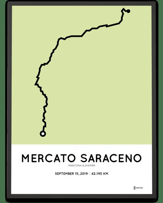 2019 Maratona Alzheimer routemap poster
