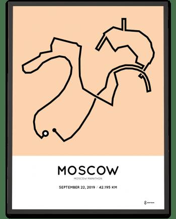 2019 Moscow marathon Sportymaps course poster