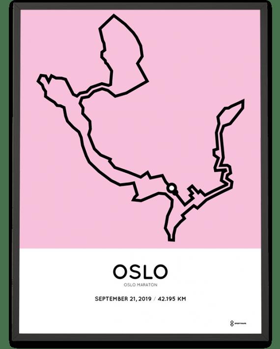 2019 Oslo marathon course poster