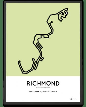 2019 Richmond Runfest marathon course poster