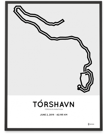2019 Tórhavn marathon course poster