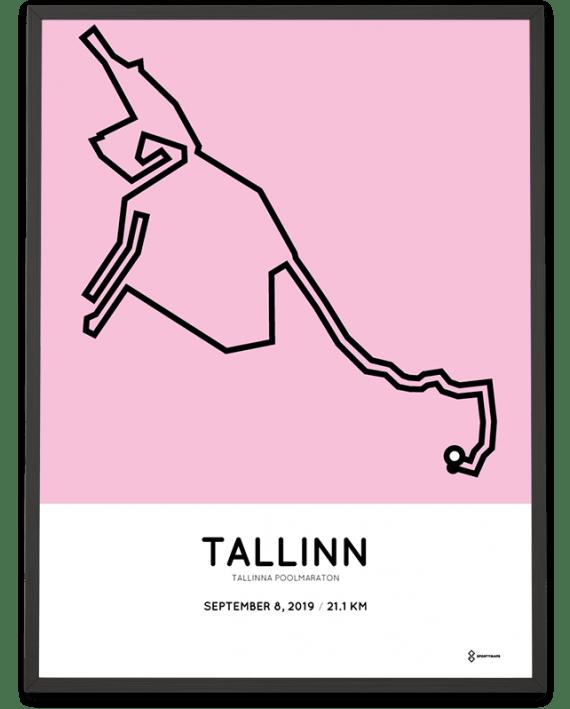 2019 Tallinn half marathon course poster