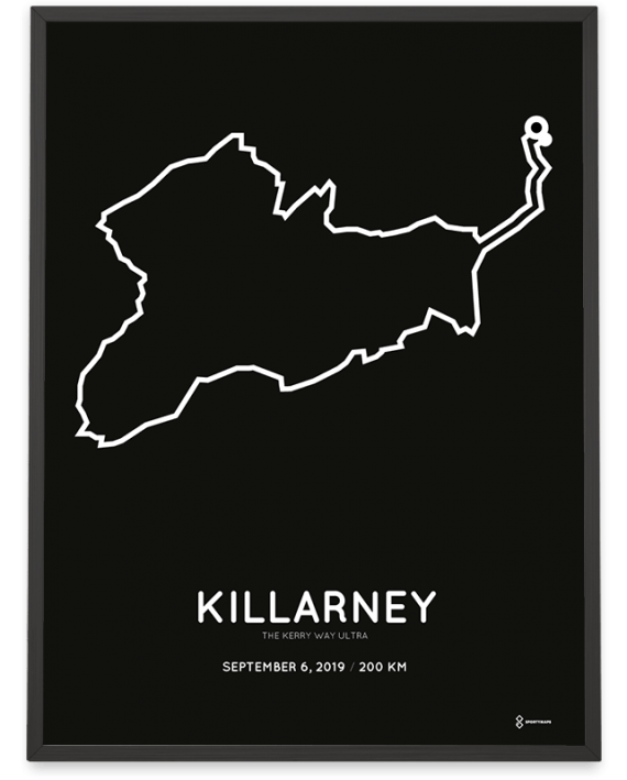 2019 The Kerry Way ultra 200km course poster