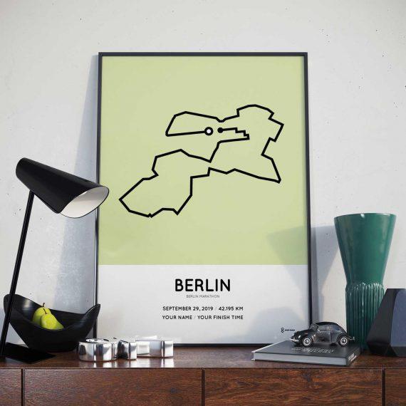 2019 Berlin marathon sportymaps coursemap poster