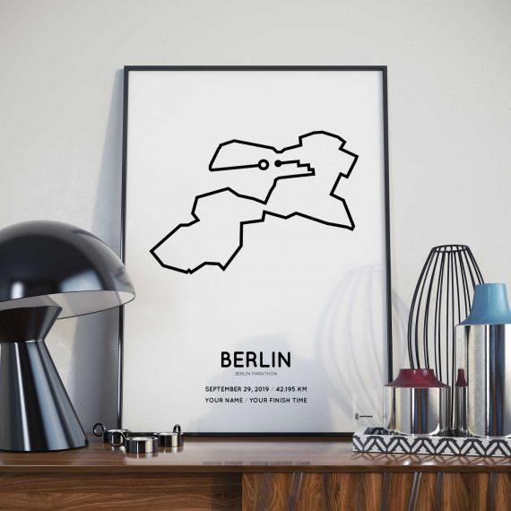 Berlin marathon 2019 strecke poster
