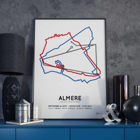 2019 Challenge Almere-Amsterdam coursemap print