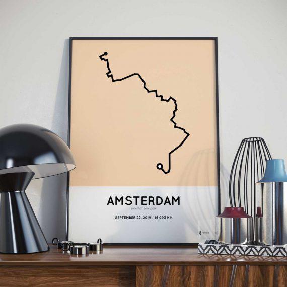 2019 Dam tot Damloop parcours poster