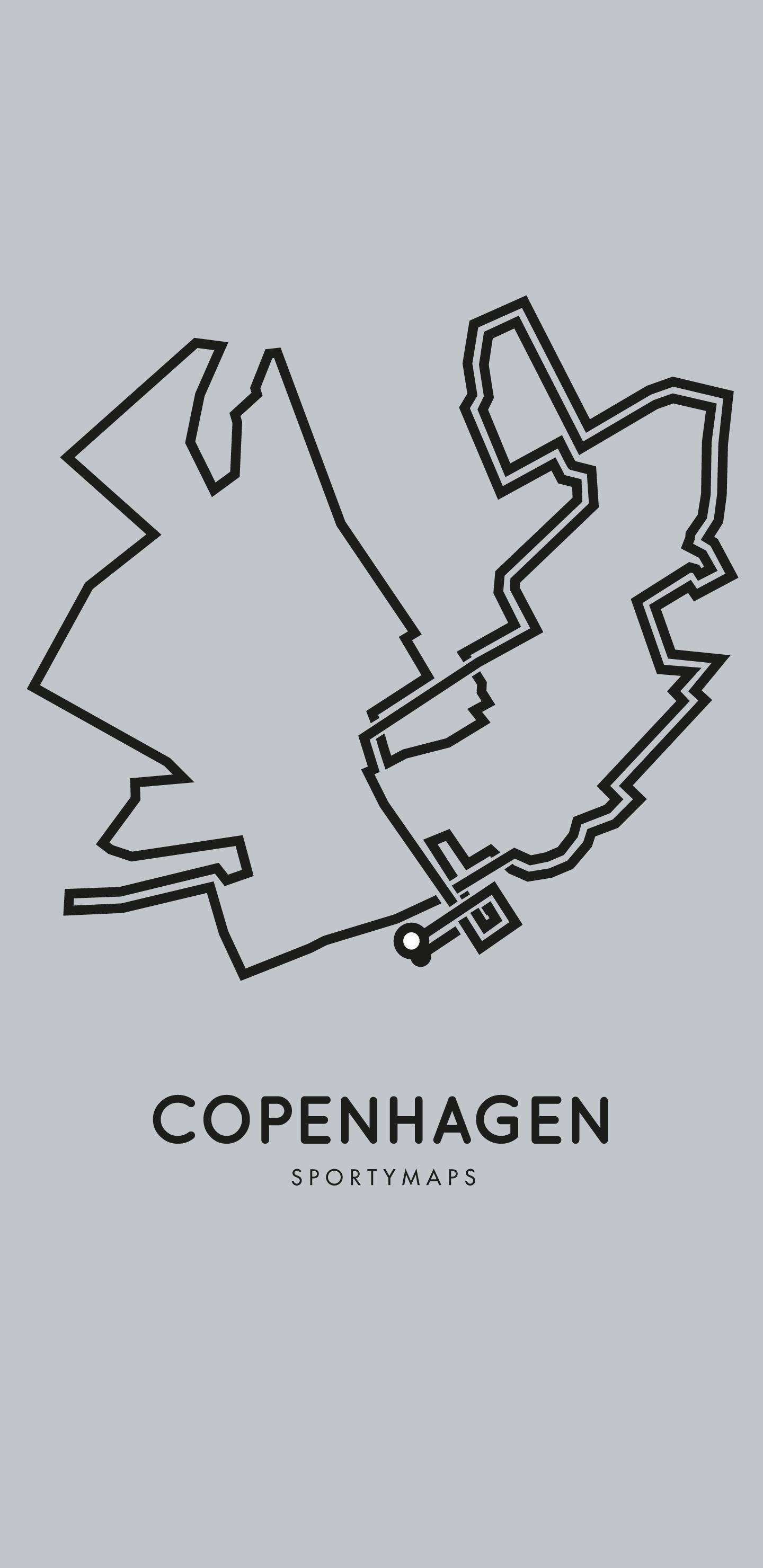 Sportymaps-Copenhagen-marathon-gray