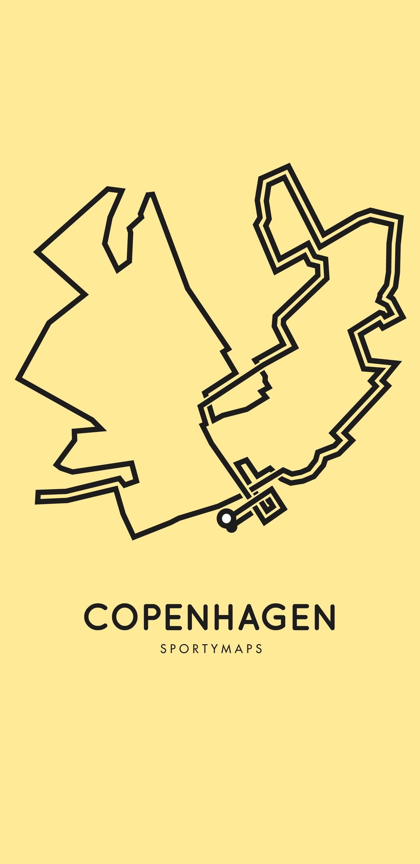 Sportymaps-Copenhagen-marathon-yellow