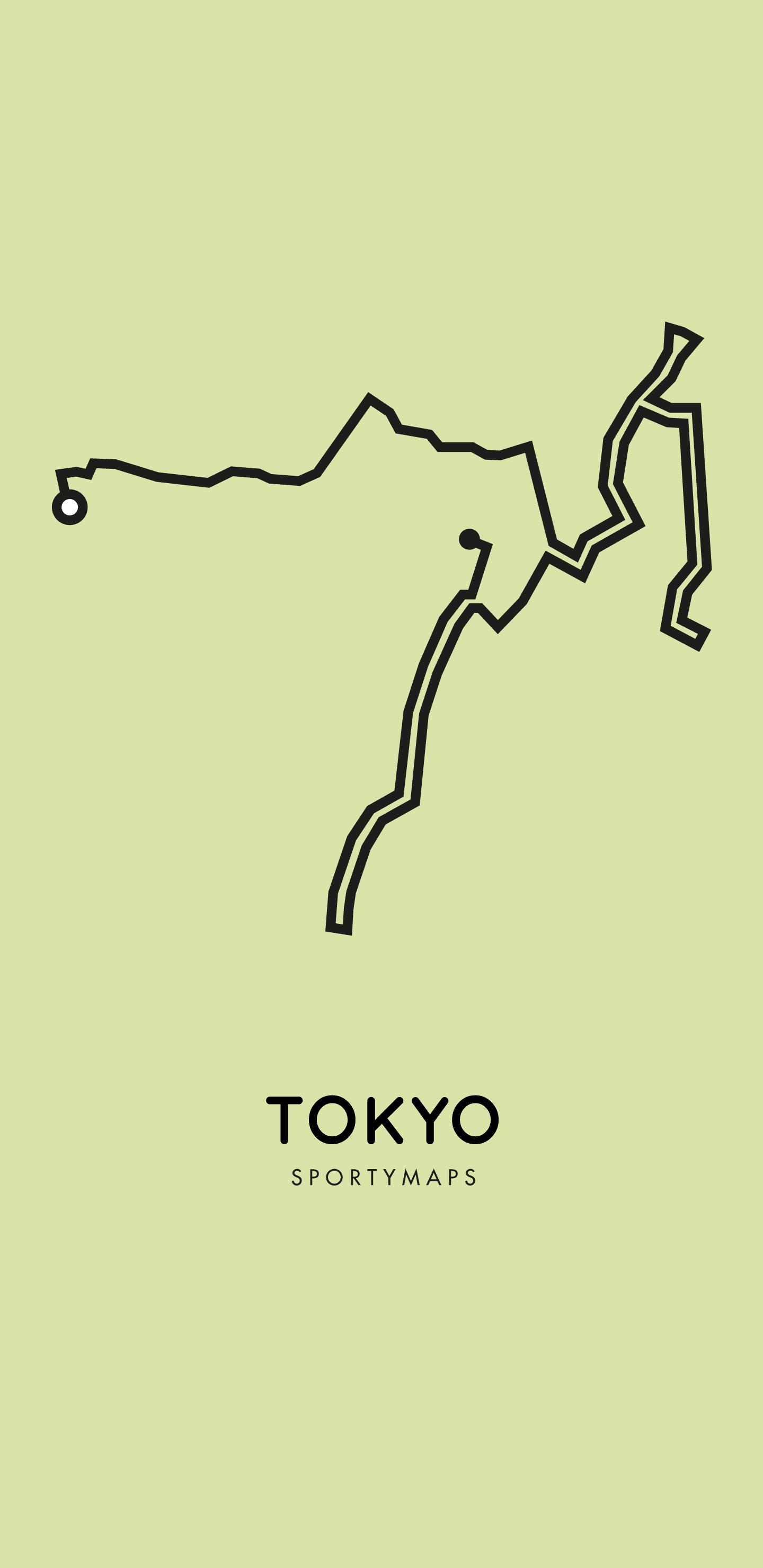 Sportymaps-Tokyo-marathon-green