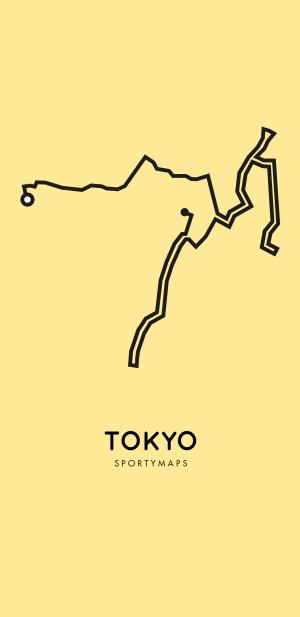 Sportymaps-Tokyo-marathon-yellow