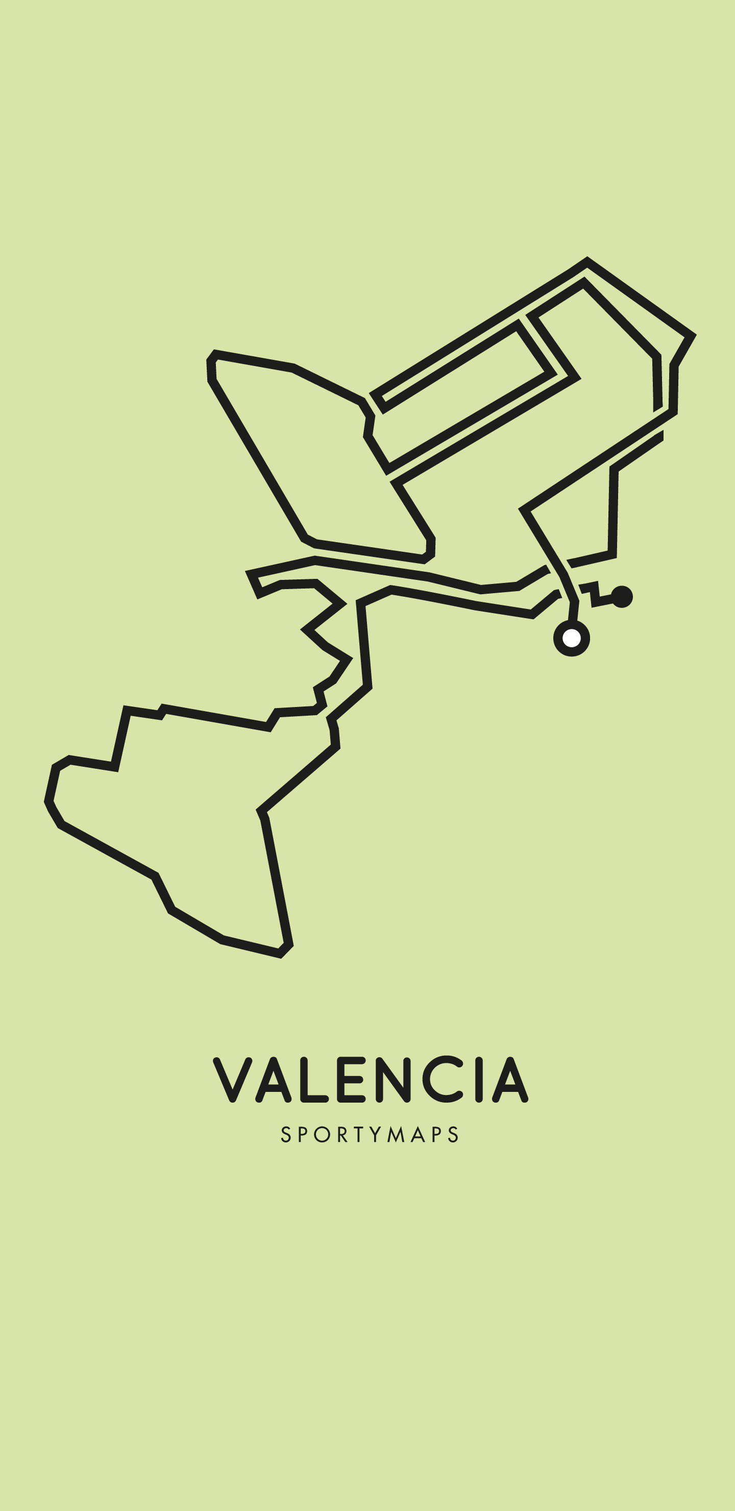 Sportymaps-Valencia-marathon-green